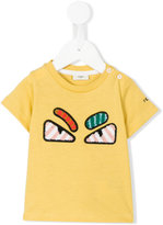 Fendi angry eyes embroidered T-shirt - kids - Cotton - 6 mth