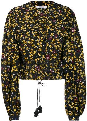 Derek Lam 10 Crosby Aster Cropped Jasmine Floral Blouse