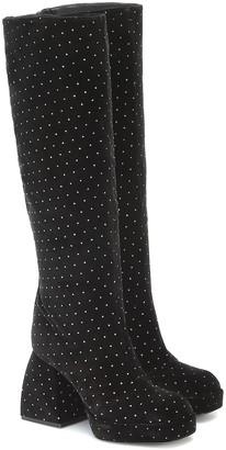 Nodaleto Bulla Solal velvet knee-high boots