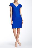 Donna Ricco Cap Sleeve Midi Dress (Petite)
