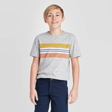 Cat & Jack Boys' Short Sleeve Striped T-Shirt - Cat & JackTM Gray/Yellow