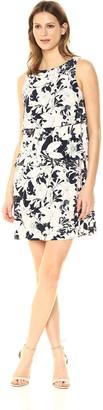 Tommy Hilfiger Women's Floral Jersey Print Layered Dress