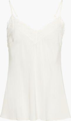 Zimmermann Lace-trimmed Silk Crepe De Chine Camisole