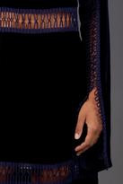 Christopher Kane Loop Tape Velvet Long Sleeve Dress