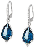 As Is 5.25 ct tw Ostro London Blue Topaz & 1/10 ct tw Diamond Earring