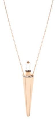 Diane Kordas Topaz, Diamond & 18kt Rose-gold Amulet Necklace - Rose Gold