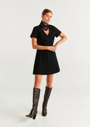 MANGO Lace detail dress