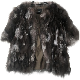 Barneys New York Black Raccoon Coat for Women