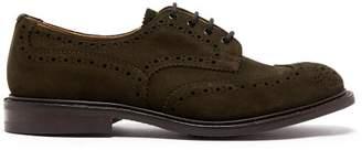 Tricker's Bourton Suede Brogues - Mens - Khaki