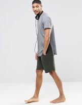 Asos Loungewear Jersey Shorts In Khaki
