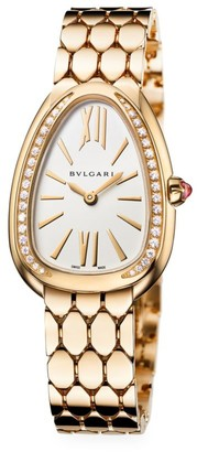 Bvlgari Serpenti Seduttori 18K Yellow Gold & Diamond Bracelet Watch