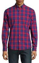 Michael Kors Plaid-Print Cotton Button-Down Shirt