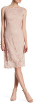Marina Lace Overlay Boatneck Dress