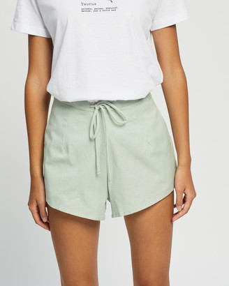 Cotton On Women's Green High-Waisted - Becki Shorts - Size 8 at The Iconic