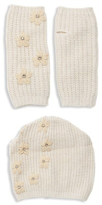 Portolano 2-Piece Embellished Beanie Gloves Set
