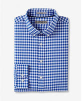 Express fitted performance easy care check shirt