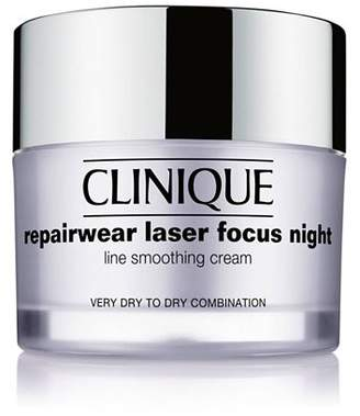 Clinique Repairwear Laser Focus Night Line Smoothing Cream, Very Dry to Dry Combination