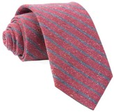 The Tie Bar Raspberry Low Tide Stripe Tie