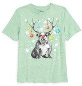 JEM Boy's Bulldog Reindeer Graphic Print T-Shirt