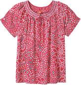 Joe Fresh Women's Print Smock Neck Top, Dark Navy (Size XL)