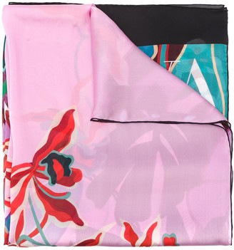 Valentino Mirrored Orchid print scarf