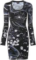 Just Cavalli solar system print bodycon dress