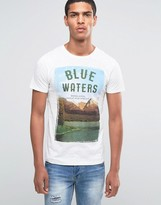 Esprit Crew Neck T-Shirt with Woodlands Print