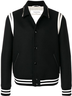 Valentino Studded Collar College Jacket