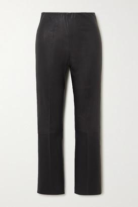 By Malene Birger Florentina Stretch-leather Slim-leg Pants