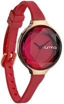 RumbaTime Orchard Gem Silicone Coral Dial Watch, 34.2mm