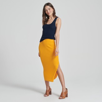 Naadam Summer Silk Midi Skirt