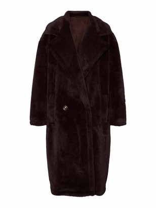 Vero Moda Women's VMSAFIA Long Faux Fur Jacket KI