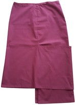 Liviana Conti Burgundy Cotton - elasthane Skirt for Women