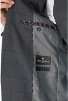 Jeff Banks Windowpane Check Travel Suit Jacket In Regular Fit - Charcoal
