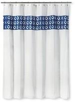 Threshold Shower Curtain - Tile Blue