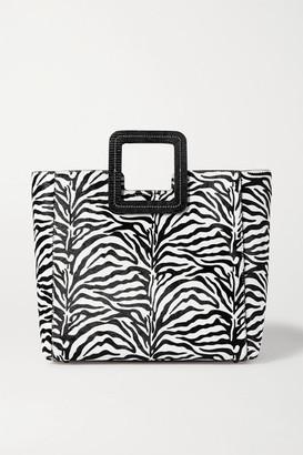STAUD Shirley Leather-trimmed Zebra-print Calf Hair Tote