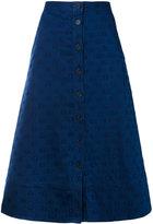 Chinti and Parker star embroidered denim skirt - women - Cotton/Spandex/Elastane/Viscose - 6