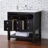 James Martin Furniture Vancouver 36-Inch Single Vanity in Espresso with 3 cm Top in Snow White