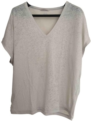 Maje Grey Cotton Top for Women