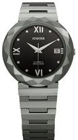 Jowissa Women's J1.166.L Soletta Automatic Steel and Tungsten Black Dial Watch