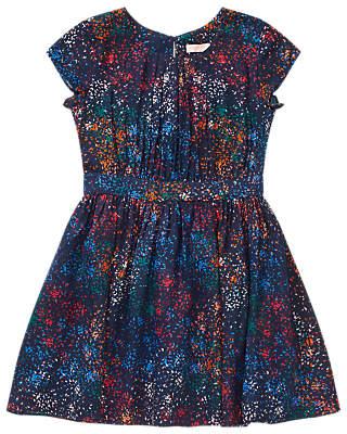 Jigsaw Girls' Sand Splash Print Dress, Navy