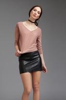 Dynamite Faux Leather Mini skirt