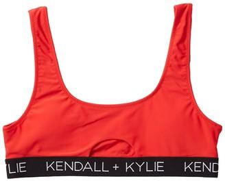 KENDALL + KYLIE Peekaboo Logo Bikini Top
