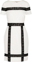 Raoul Bruna lace-trimmed twill mini dress