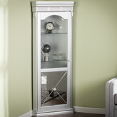 House of Hampton Harldson Mirrored Lighted Corner Curio Cabinet