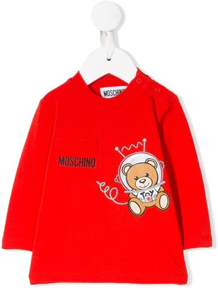 MOSCHINO BAMBINO Astronaut Teddy Jersey Top