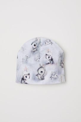 H&M Printed Jersey Hat - Beige