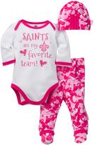 Gerber New Orleans Saints Pink Footie Pants Set - Infant