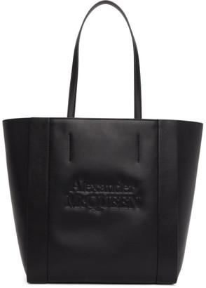 Alexander McQueen Black Signature Shopper Tote