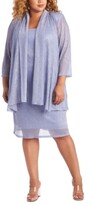 Thumbnail for your product : R & M Richards Plus Size Sleeveless Metallic Dress and Jacket